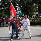 Flying the Flag for Peru by mike  jordan.