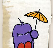 Bert - and the tiny umbrella by Richard Yeomans