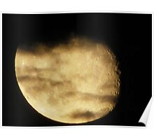 Cloud Covered Moon Poster