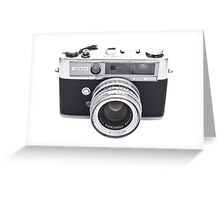 Vintage Camera Yashica Greeting Card