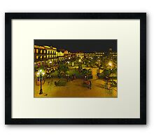 Plaza de La Libertad-Tampico, MX, Digital Interpretation Framed Print