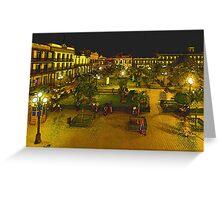 Plaza de La Libertad-Tampico, MX, Digital Interpretation Greeting Card