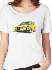 Mitsubishi Evo IX Yellow Women's Relaxed Fit T-Shirt