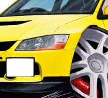 Mitsubishi Evo IX Yellow Sticker