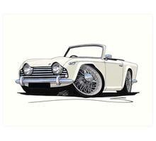 Triumph TR5 White Art Print