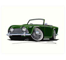 Triumph TR5 Dark Green Art Print