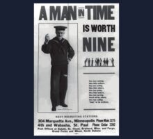 A man in time is worth nine 002 Baby Tee
