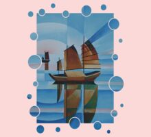 Soft Skies, Cerulean Seas and Cubist Junks Kids Clothes