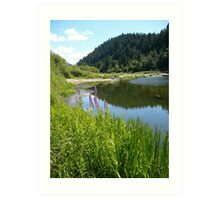 Perfect Day At The River Art Print