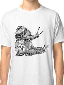Snails Boho Illustration Classic T-Shirt