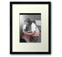 """1 John 3:18""  by Carter L. Shepard Framed Print"