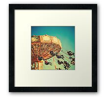 Vintage Chain Swing Ride on Blues Sky Framed Print