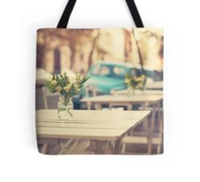I'm gonna miss you a lot (Retro Pastel Coffee Shop in the Streets) Tote Bag
