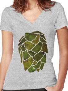 Hop Cone Women's Fitted V-Neck T-Shirt