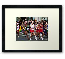 Straining Muscles Framed Print
