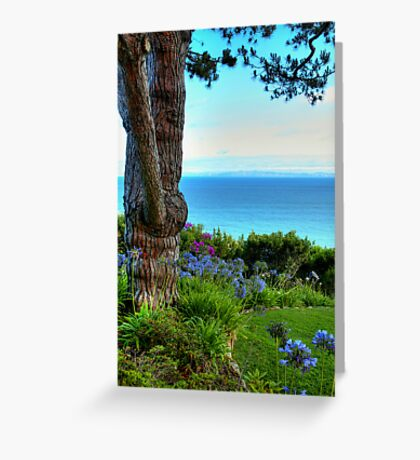 Blue Waters In Palos Verdes California Greeting Card