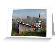 Old Boat at Battlesbridge Greeting Card