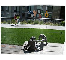 Sculptures on the High Line, New York's Elevated Garden and Park Poster
