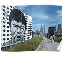 Mural on the High Line, New York's Elevated Garden and Park Poster