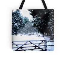 Gate in the Snow Tote Bag