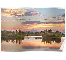 Longs Peak Evening Sunset View   Poster