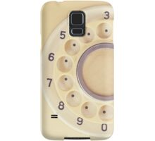 Yellow Retro Telephone  Samsung Galaxy Case/Skin