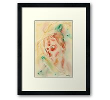 Sad Lady Framed Print