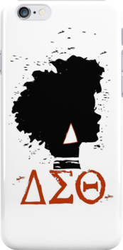 Delta Sigma Theta iPhone Case/T-Shirt by jlynnart