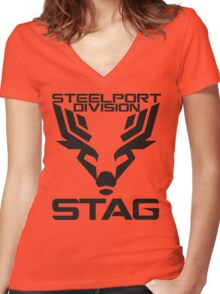 STAG Initiative Women's Fitted V-Neck T-Shirt