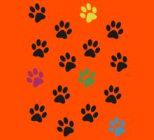 Random Colorful Cat Paws 001 Kids Clothes
