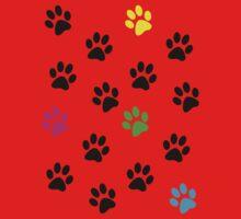 Random Colorful Cat Paws 001 Kids Clothes