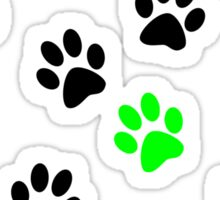 Random Colorful Cat Paws 001 Sticker