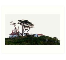 On The Hill Is A Lighthouse Art Print