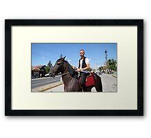 Misar's Hero Framed Print
