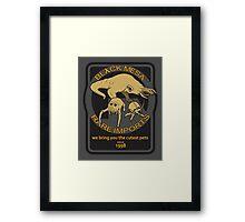 Black Mesa rare imports. Framed Print