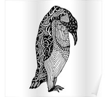 Penguin Zentangle Poster