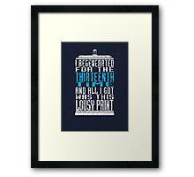 Regeneration No. 13 Framed Print