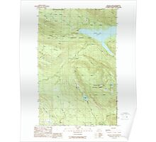 USGS Topo Map Washington State WA Wallace Lake 244517 1989 24000 Poster