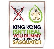 King Kong vs Sasquatch Poster