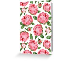 Watercolor Peonies Greeting Card