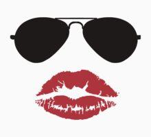 Aviator Sunglasses and Kiss by sweetsixty
