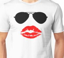 Aviator Sunglasses and Kiss Unisex T-Shirt