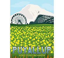 Vintage Puyallup Washington Poster Photographic Print