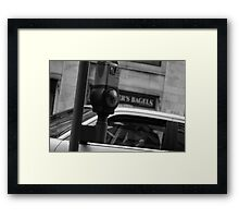 Parking in the City Framed Print