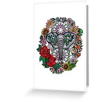 Flower Elephant Mandala  Greeting Card