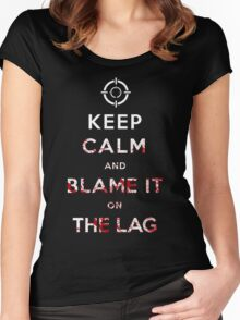 Keep Calm and Blame it On The Lag  Women's Fitted Scoop T-Shirt
