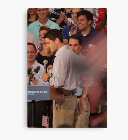 Paul Ryan wafts one to the crowd Canvas Print