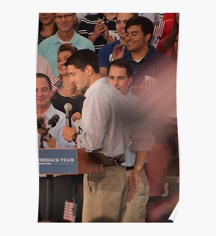 Paul Ryan wafts one to the crowd Poster