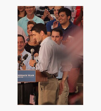 Paul Ryan wafts one to the crowd Photographic Print