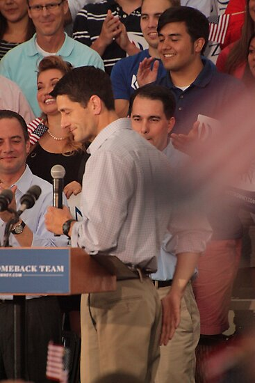 Paul Ryan wafts one to the crowd by Thomas Murphy